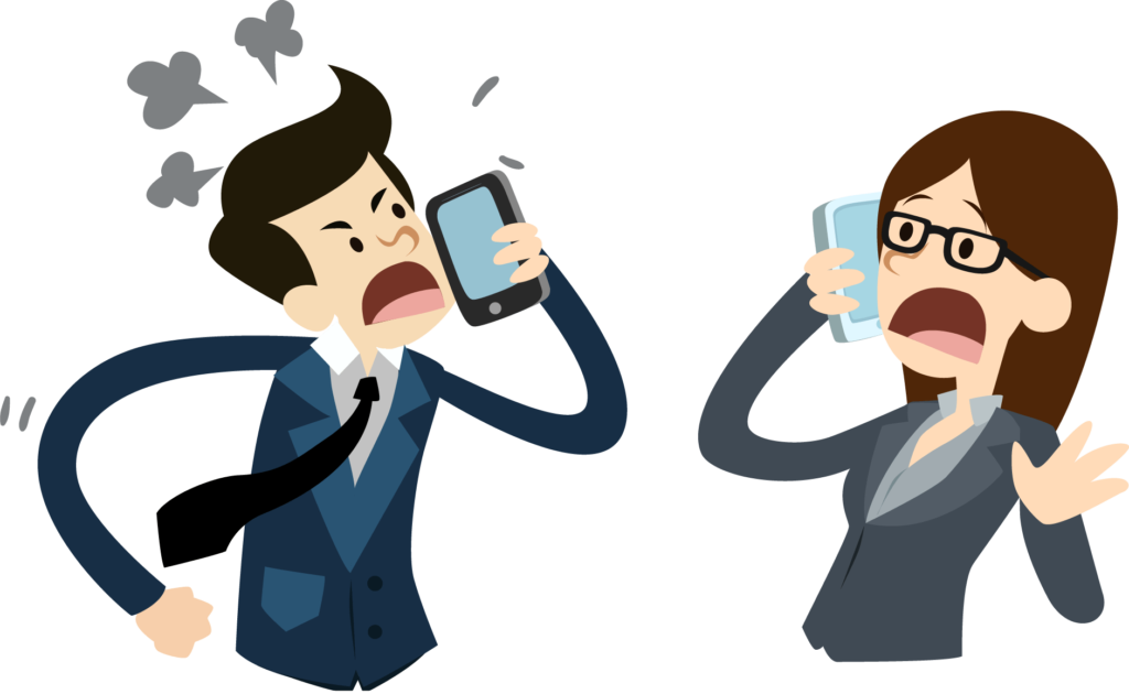 Angry Phone Call between Coworkers