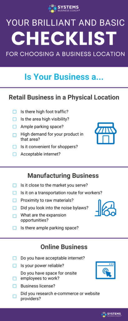Brilliant and Basic Checklist for Choosing a Business Location