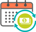 Calendar to Cash Icon